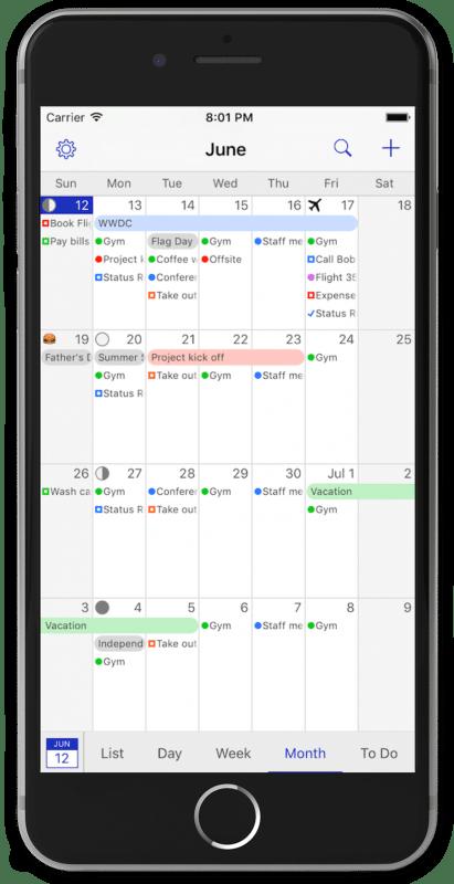 Die besten iPhone Apps für holistische Blogger und Freelancer BusyCal