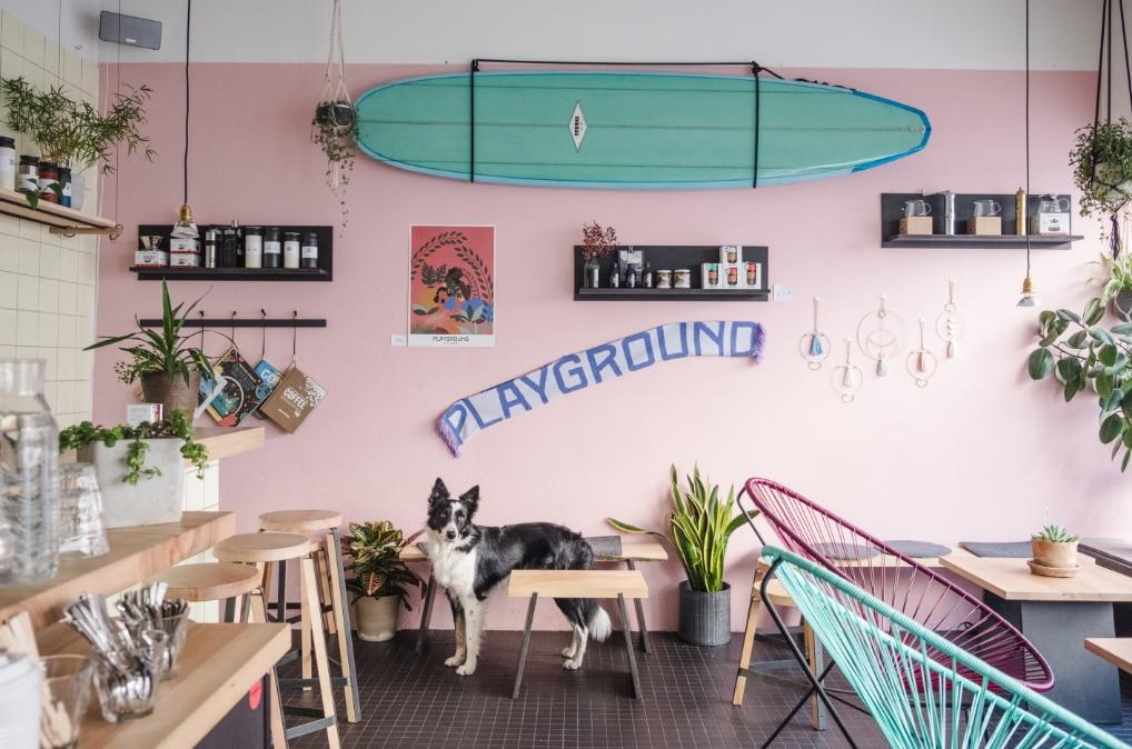 Playground Coffee St. Pauli vor dem Lockdown 2020