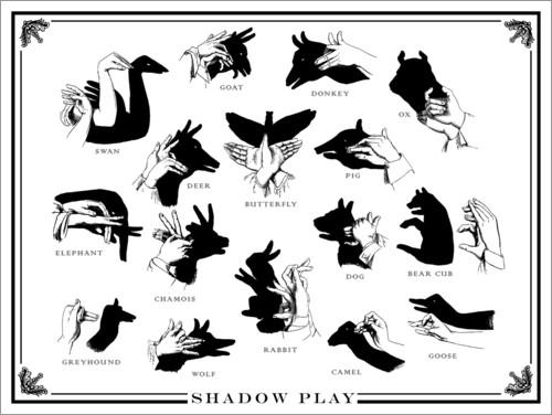 Schattenspiele als Idee gegen Langeweile